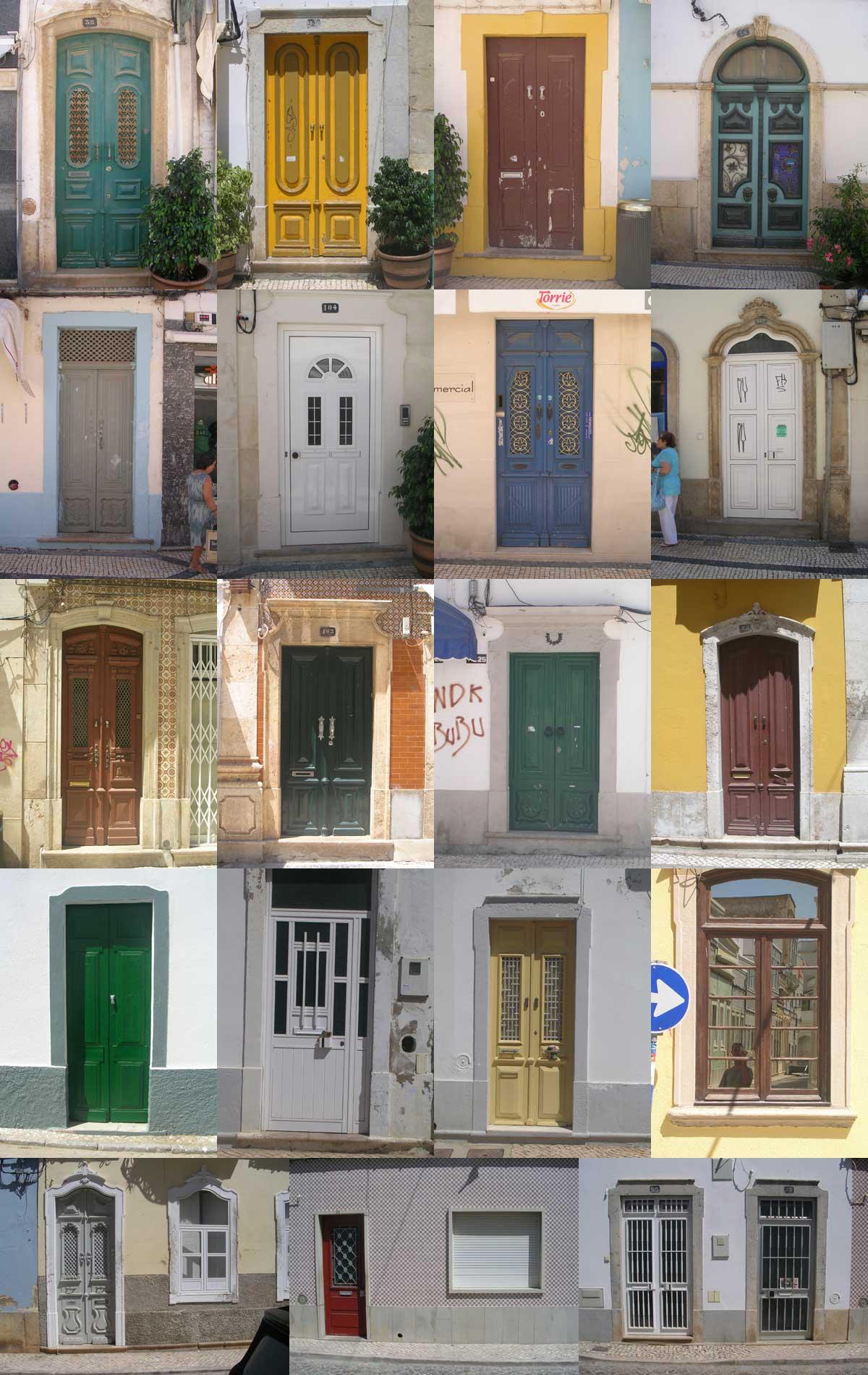 Olhao, Algarve, Porte (e qualche finestra)